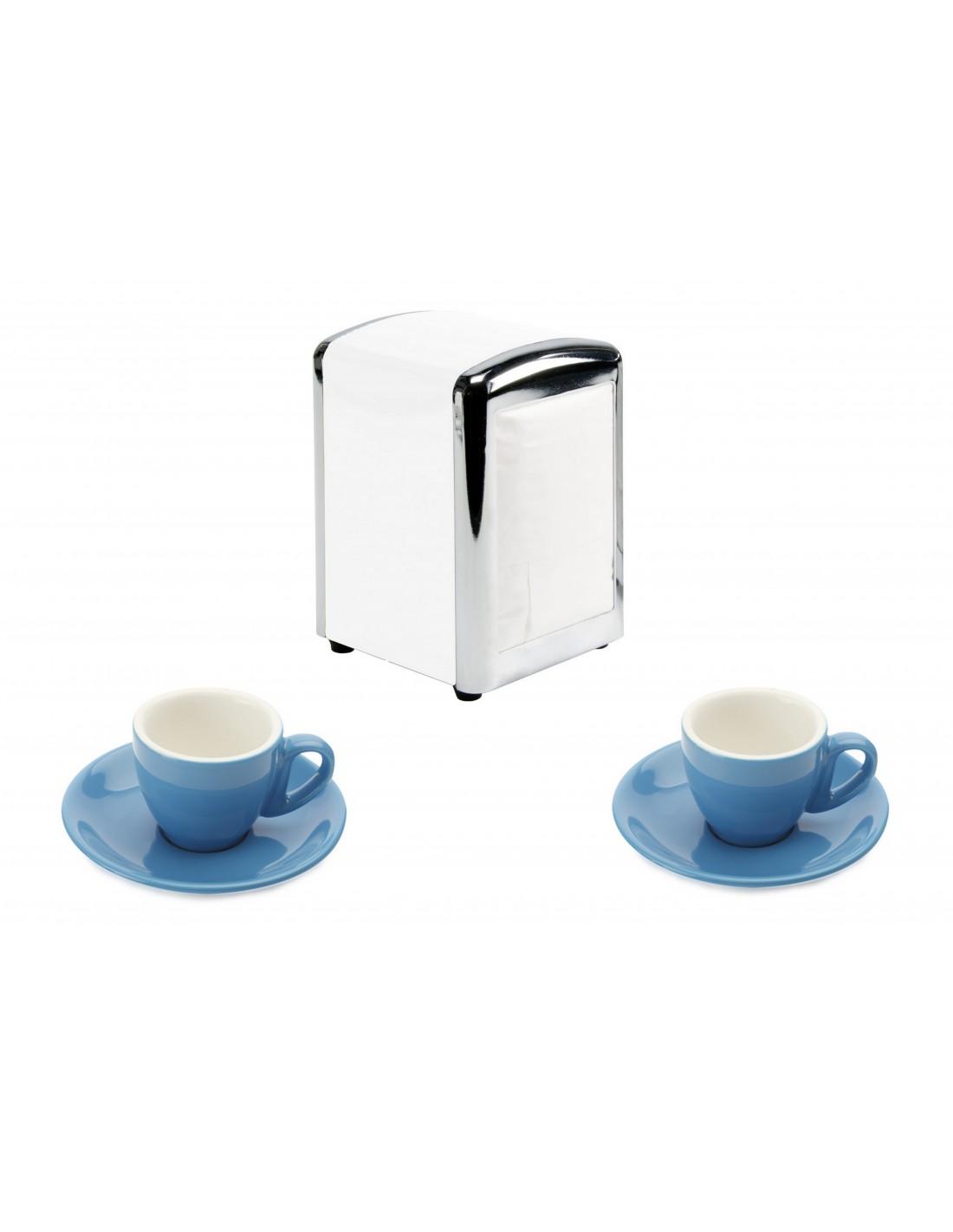 Set 2 tazze con porta salviette casa bella dal cin for Porta online shop