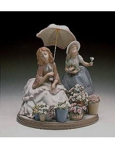 La venditrice di fiori di Lladrò