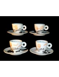 Set da 4 tazze caffè Illy Collection 2005