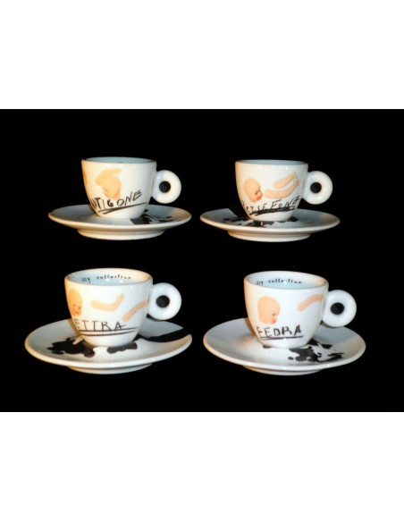 Set da 4 tazze caffè Illy Collection 2005