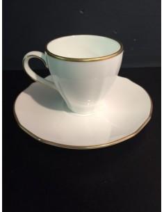 Tazza da caffè c/piattino Duchessa Oro di Richard Ginori