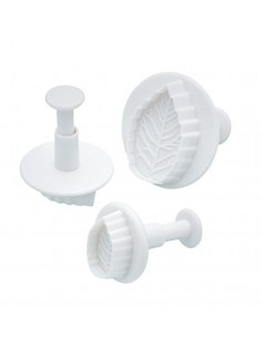 Set di 3 formine/cutter foglie di Kitchencraft