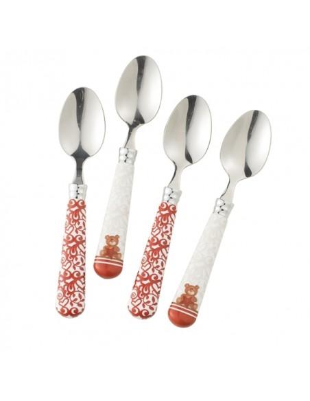 Set da 4 cucchiaini Abbracci Collection di Brandani