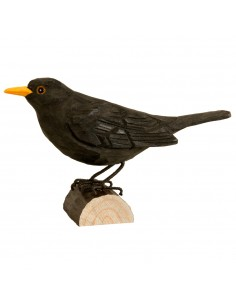 Uccello decorato Blackbird/Merlo di Wildlife Garden