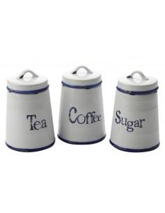 Contenitori per Tea, Riso e Farina in ceramica con coperchio di